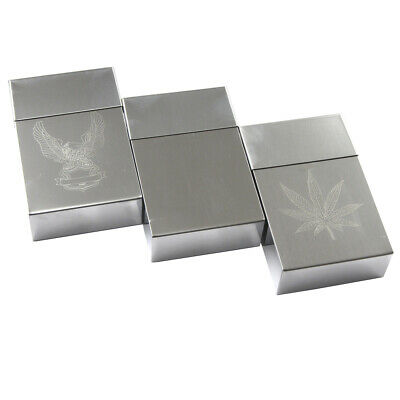 Cigarette Case Tin King Size Metal Box Holder Leaf Sleeves Big Tobacco 20 Cigare • 4.99£