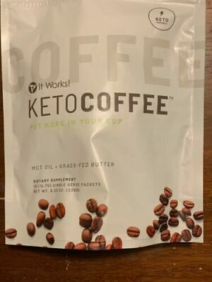 $34.59 • Buy Brand New It Works Keto Coffee Carb Management Sealed Bag 15 Packets Free Ship