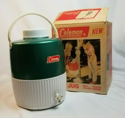 $44.95 • Buy Vintage Coleman Green & White Insulated Water Cooler 2 Gallon Jug.