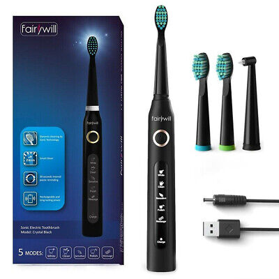 AU35.99 • Buy Fairywill Sonic Electric Toothbrush Rechargeable 5Modes Whitening 30Days Battery