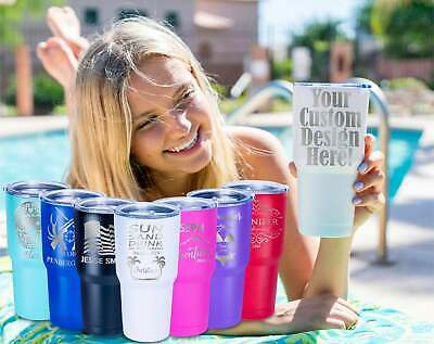 AU21.99 • Buy Personalized Engraved Stainless Steel Beer Tumbler Travel Mug Thermos Coffee Cup