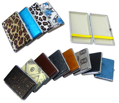 PU Leather Cigarette Tin Holder Case Premium Look For Him Her Holds Up To 12-20 • 3.48£
