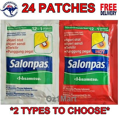AU9.99 • Buy 24 Salonpas Pain Relief Hisamitsu Patches Muscle Pain Relieving Patch