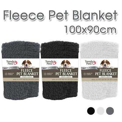 AU15.99 • Buy 100x90cm Pet Mat Soft Fluffy Warm  Cat Dog Puppy Fleece Soft Blanket Bed Cushion