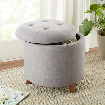$107.72 • Buy Ottoman Storage Round Seat Coffee Table Living Bed Room Indoor Furniture Home