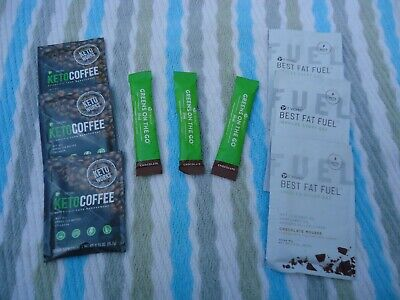 $28 • Buy It Works!  3 Packs Ea. Keto Coffee, Chocolate Greens On The Go, Chocolate Mousse