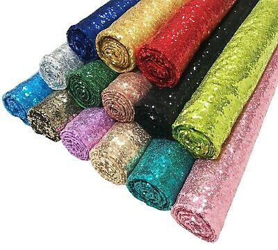 Sparkly Shiny 3mm Sequin Fabric Wedding Dress Cloth Bling Material - 130cm Wide • 4.85£