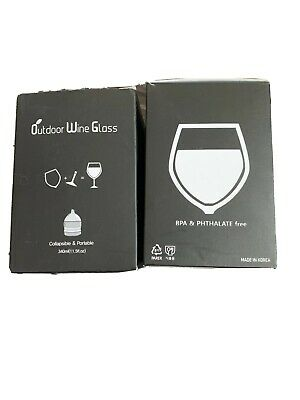 $14.99 • Buy BOSO Outdoor Wine Glass Polycarbonate Portable Camping Unbreakable Glasses
