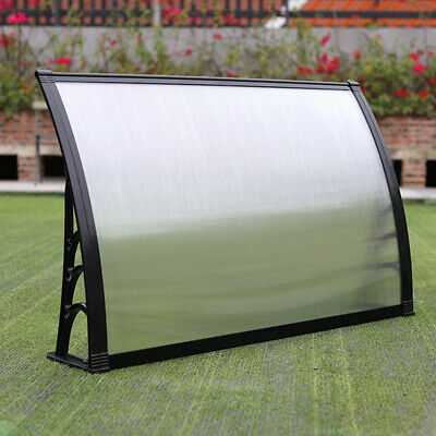 £59.95 • Buy Black  Door Canopy Awning Shelters Roof Front Back Porch Shade Patio Rain Covers