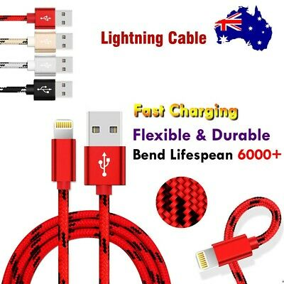 AU4.99 • Buy Braided USB Charging Cable Cord For Apple Charger IPhone IPad XR XS 6 X 8 7 5S