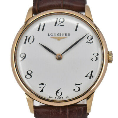 $ CDN310.58 • Buy Auth Vintage LONGINES Gold Plated/Leather Hand-winding Unisex Watch A#94214