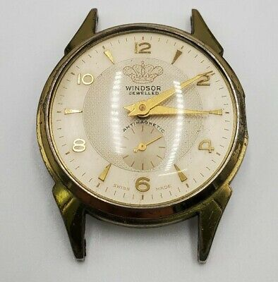 $ CDN25.07 • Buy Vintage Windsor Jewelled Swiss Made Watch Anti Magnetic For Parts Repair