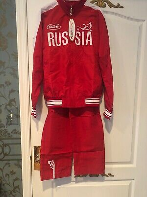 $149.99 • Buy Bosco Sport Russia Track Suit Red Jacket Pants Russian Olympic Team NWT S