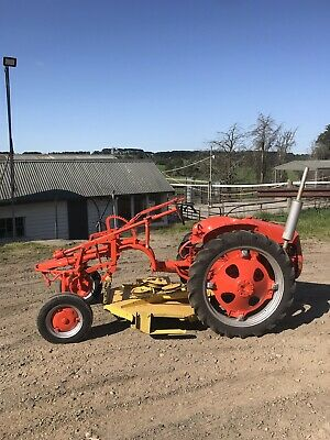 AU8500 • Buy Vintage Allis Charmers G Model  Tractor With Slasher/Mower. Free Delivery In Vic