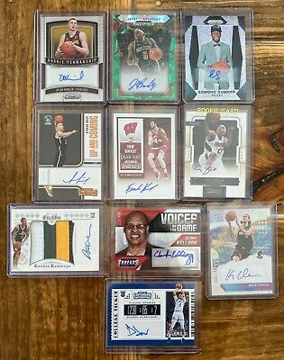 $ CDN55 • Buy LOT Of 27 Basketball Autographs, AUTO Relics, Patch, Jersey RC Autographed Cards