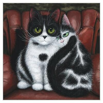 Home Comfort Funny Cat Greeting Card Tamsin Lord Humorous Cats Greetings Cards • 3.50£