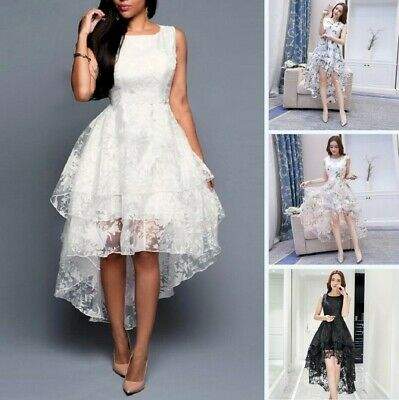 Women Lace High-low Evening Ball Gown Formal Dress Wedding Bridesmaid Prom Party • 27.59£