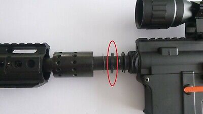 AU6 • Buy Gel Blaster Upgrade: Spacer Ring, Outer Barrel To Metal Fishbone Jinming J9 M4a1