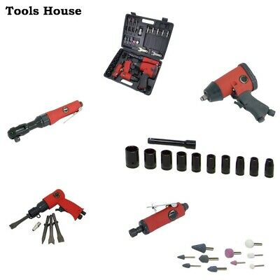 Air Tool Kit Hammer, Ratchet, Die Grinder, Impact Wrench & Accesoriers • 74£