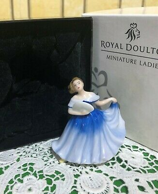 ROYAL DOULTON LADY ELAINE SMALL MODEL No.M 201 BLUE DRESS PERFECT WITH BOX • 14.99£
