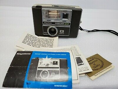 $ CDN15 • Buy Vintage Keystone Everflash 20 Camera With Instruction Booklet
