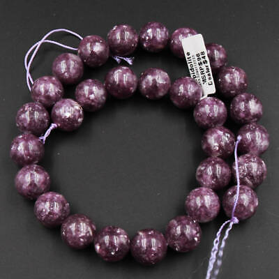 $41.99 • Buy AAA Natural Maroon Purple Lepidolite 12mm Round Beads 16  Strand