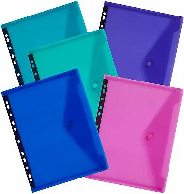 Snopake A4 Polyfile Ring Binder Stud Wallets Landscape Electra Popper Files X 5 • 6.99£