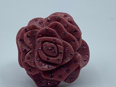 $ CDN72.58 • Buy Whitney Kelly WK Sterling Silver 925 Pink Carved Flower Ring Size 6