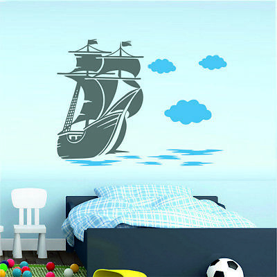 £9.89 • Buy Ship Wall Stickers Decal Sticker Home Decorations Nursery Decor Bedroom Boys
