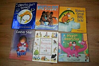 Childrens Book Bundle X6 Inc Who's In The Loo Giraffes Can't Dance • 5£