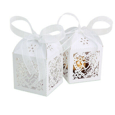 Elegant Baby Christening Wedding Party Gift Favour Bags Boxes 25-50-100pcs • 9.99£