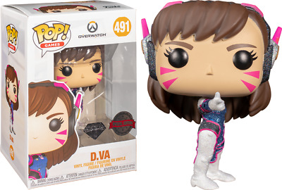 AU19.99 • Buy Overwatch - D.Va Diamond Glitter US Exclusive Pop! Vinyl [RS]-FUN46056-FUNKO