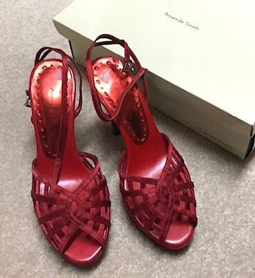 $21.95 • Buy Nib Nwt New Women's Amanda Smith  Cage  Red High Heel Shoes Size 6
