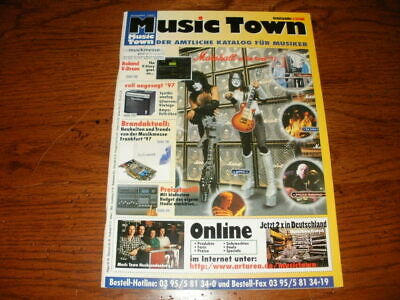 Kiss Germany Music Town Magazine August 1997 Ace Frehley Paul Stanley • 5.70£