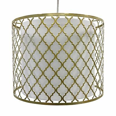 Easy Fit Light Shade Gold Metal Morrocan Design Ceiling Pendant Shade • 19.99£