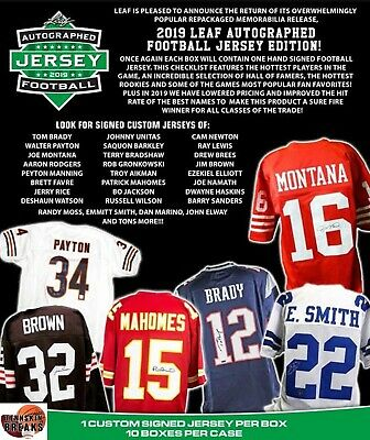 $0.99 • Buy LOS ANGELES RAMS 2019 Leaf AUTOGRAPHED Football Jersey 1BOX Break
