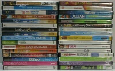 $ CDN10.58 • Buy Wholesale Lot Of 32 Assorted **Health & Fitness** DVDs & DVDs Movies