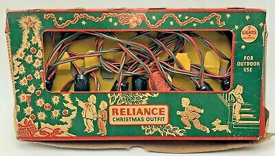 $ CDN30.65 • Buy Vintage Reliance Christmas Outfit Tree 7 String Lights Original Box Working #10