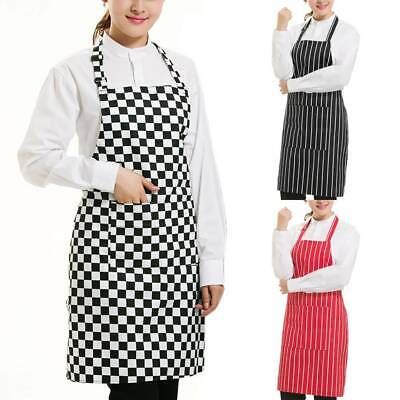 £2.99 • Buy Uk Plain Apron With Front Pocket For Chefs Butchers Kitchen Cooking Craft Baking