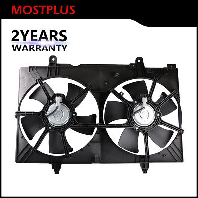 $73.99 • Buy Front Dual Radiator Cooling Fan Assembly For 2004-2009 Nissan Quest 3.5L V6 DOHC