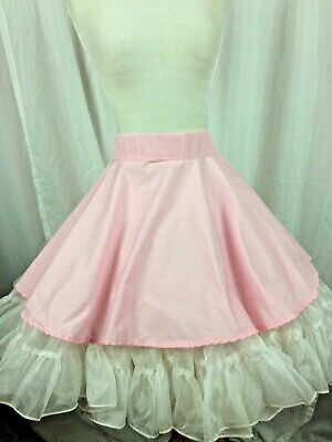 $22.99 • Buy SQUARE DANCE APRON Pink Simple Design Back Hooks Made To Wear Over Your Skirt