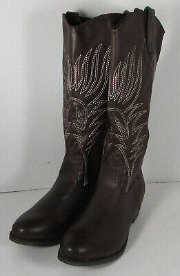 $72.89 • Buy $150 MTNG Womens 56143 Mid Calf Cowgirl Boots Shoes, Mocha, 40 EU / 8.5-9 US