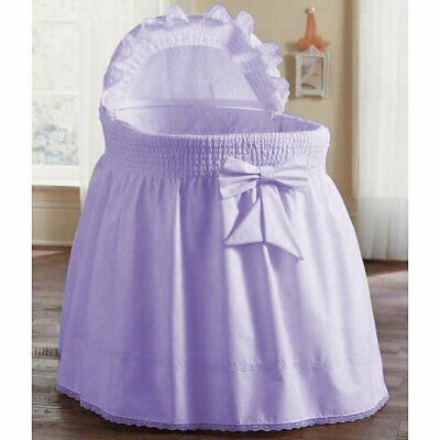 $31.99 • Buy ABaby Smocked Bassinet Skirt, Lavender, Small, NWT!