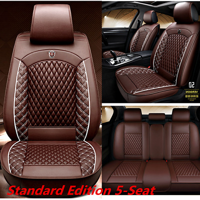 $ CDN164.08 • Buy Standard Edition Car 5-Seat Full Set Seat Covers Cushion Breathable PU Leather