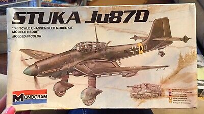 $17.99 • Buy 1983 VINTAGE MONOGRAM 1/48 JUNKERS Ju87D STUKA   #6840 FACTORY SEALED BOX!