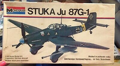 $19.99 • Buy Vintage Monogram 1/48 6840 (Stuka/Ju/87G-1/German)1973 Factory Sealed