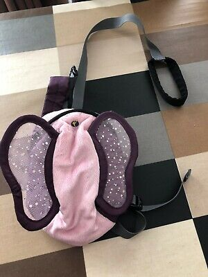 LittleLife Pink / Purple Butterfly Toddler Backpack With Reins / Parent Handle • 8£
