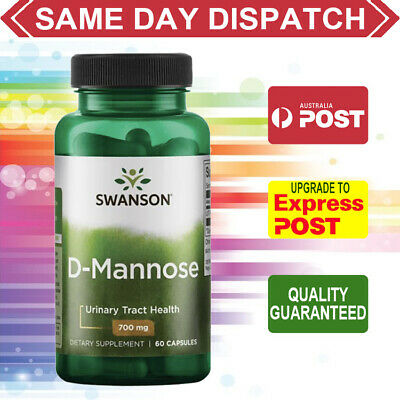 AU37.40 • Buy Swanson D-Mannose 700mg Per Capsule 60 Capsules URINARY TRACT & BLADDER HEALTH