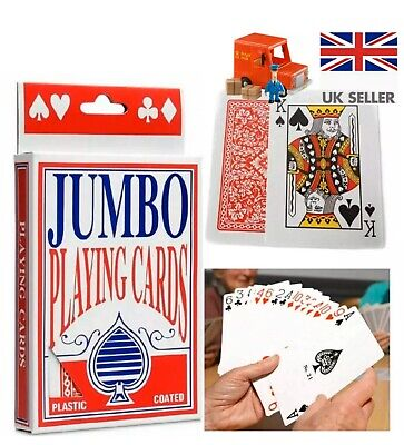 Extra Large Cards Jumbo Playing Cards  Playing Cards Pack Of 52 Game Deck🌹 • 2.48£