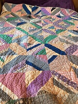 $ CDN141.03 • Buy 1800s Antique Quilts Hand Made,used And Loved. Heavy